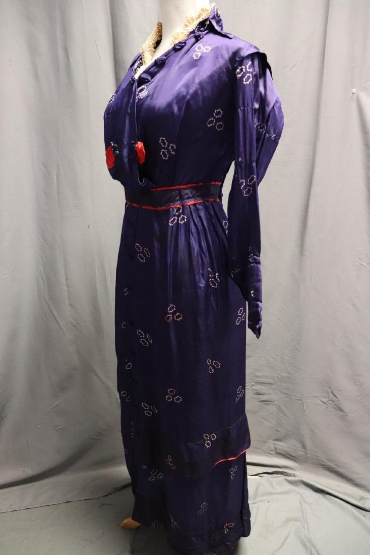 1910 Purple Silk Day Dress - 3