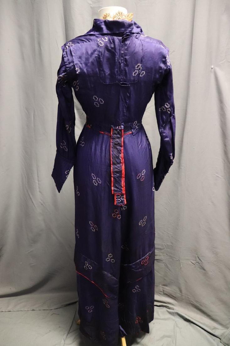 1910 Purple Silk Day Dress - 6
