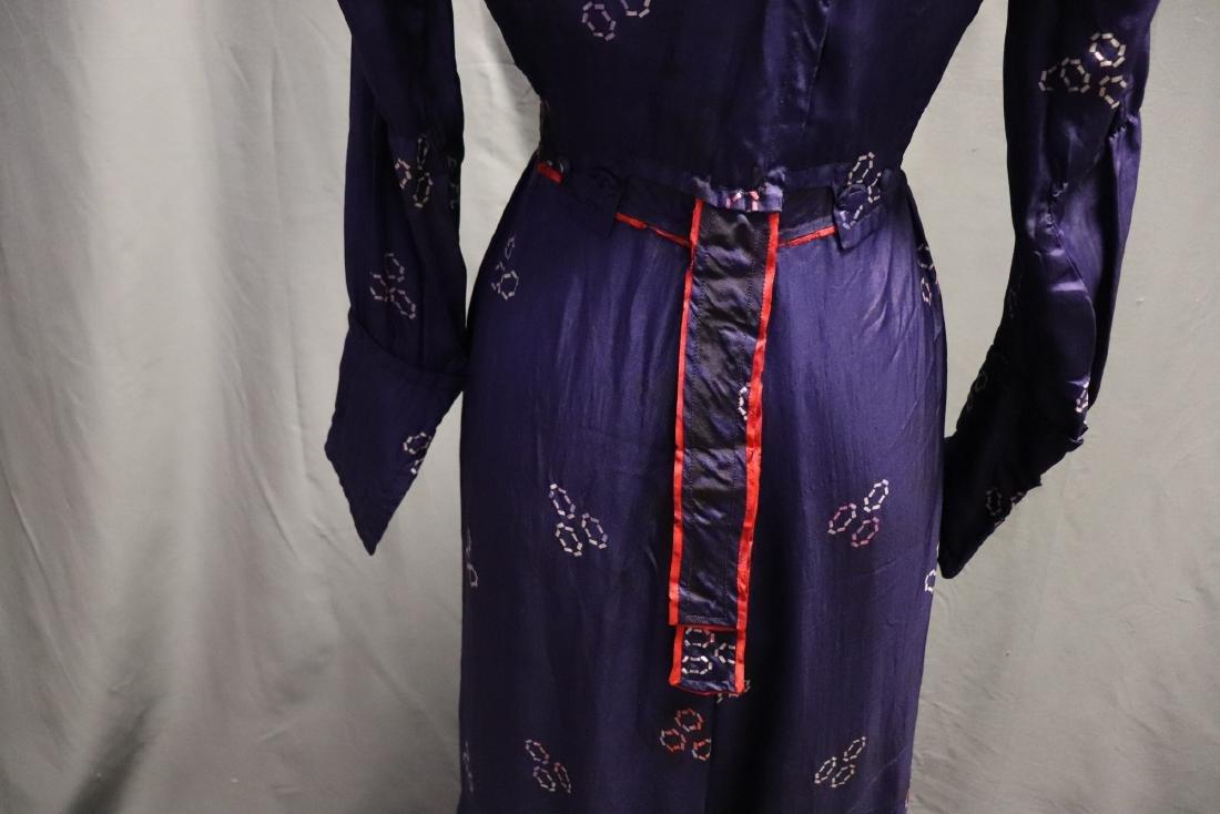 1910 Purple Silk Day Dress - 7