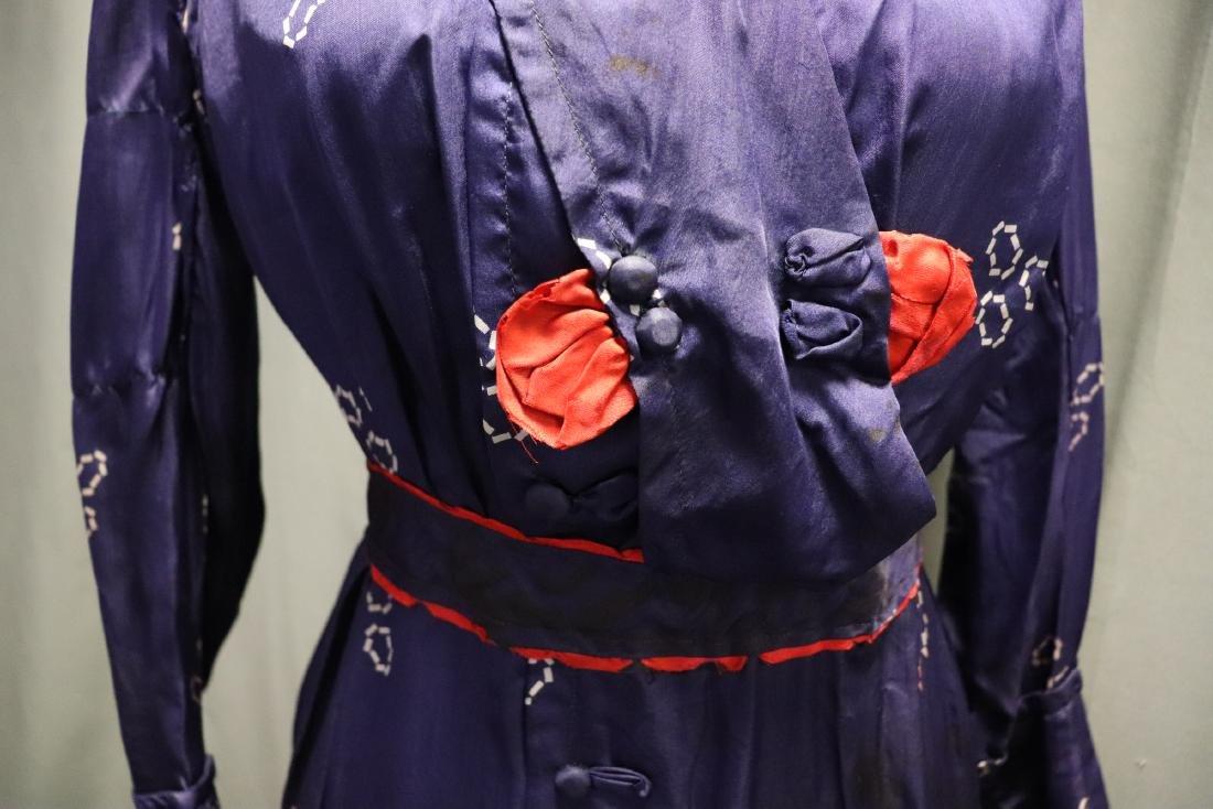 1910 Purple Silk Day Dress - 8