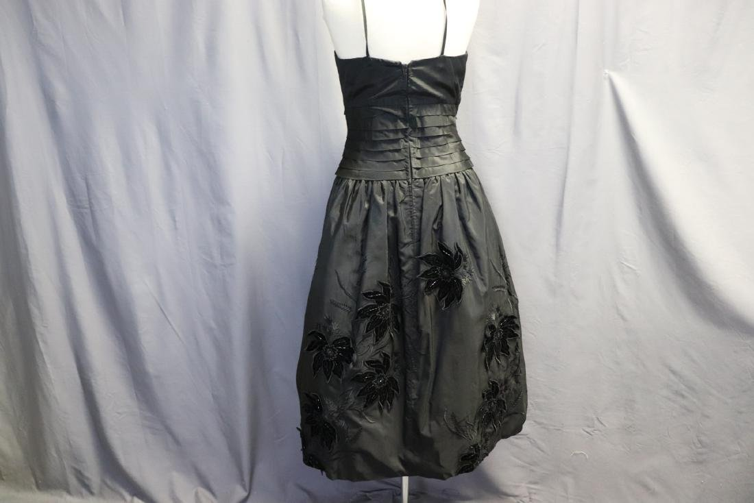 Ruben Parnis 1950's Black Princess Dress with Velvet - 5