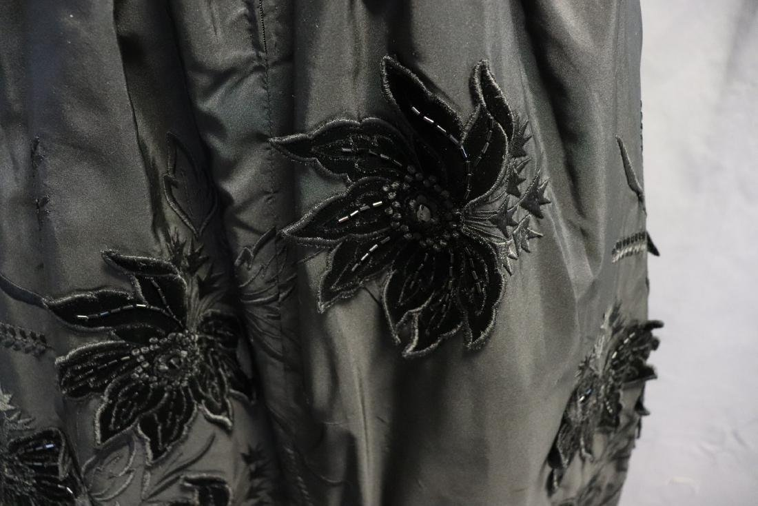 Ruben Parnis 1950's Black Princess Dress with Velvet - 6