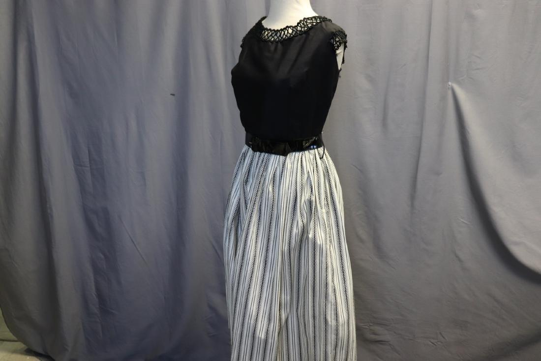 1950's Old Store Stock Black & White Cotton Dress - 3