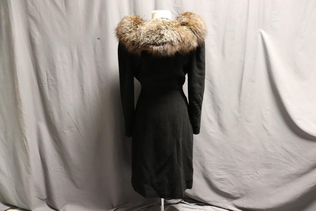 1940's Wool Knit Sweater Coat with Fox Fur - 7