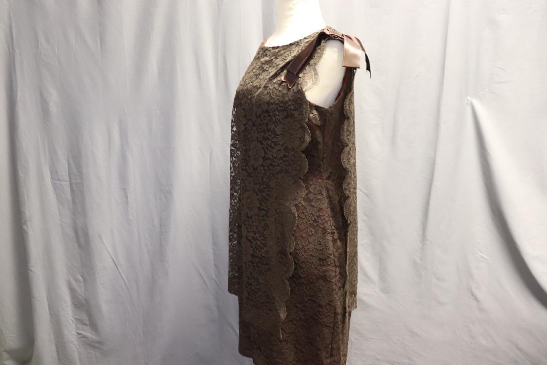 1960's Chantilly Lace Shift Dress - 3