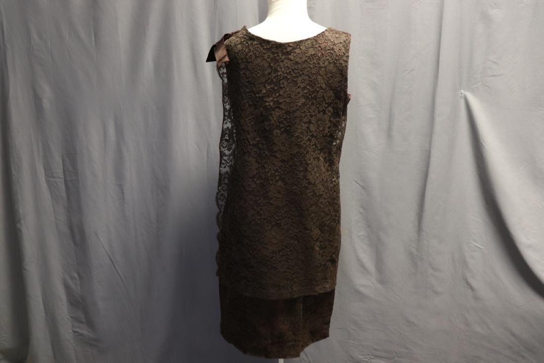 1960's Chantilly Lace Shift Dress - 4