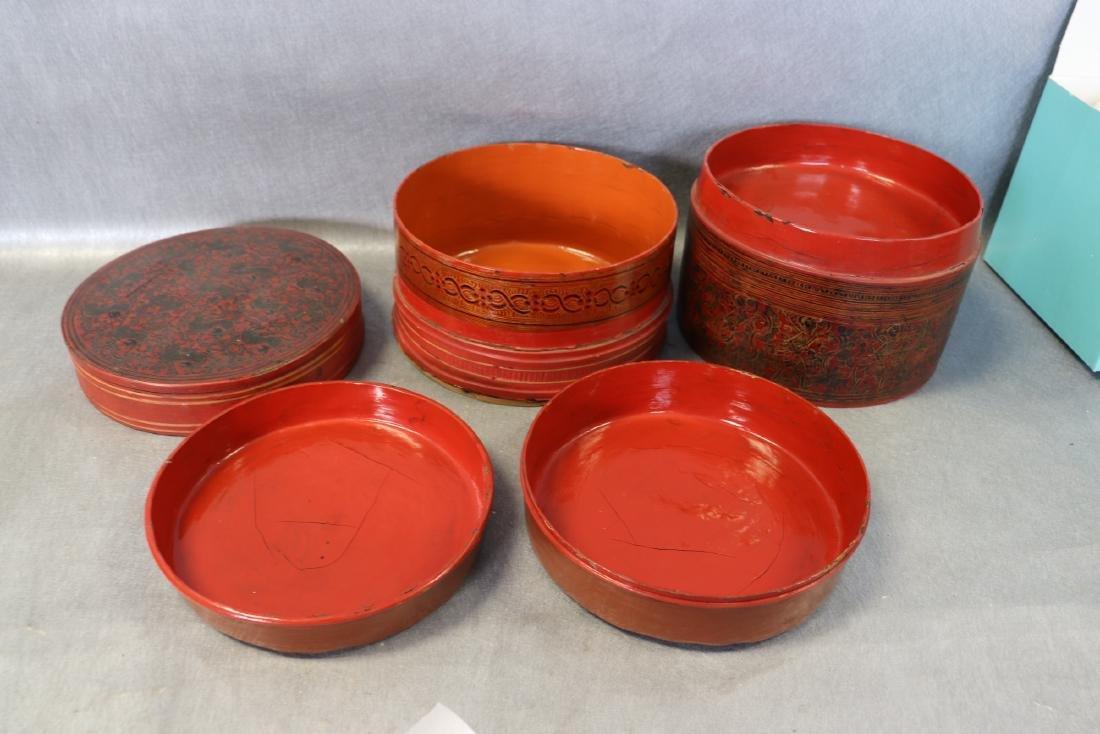 Vintage Asian 5-Piece Betel Box - 4