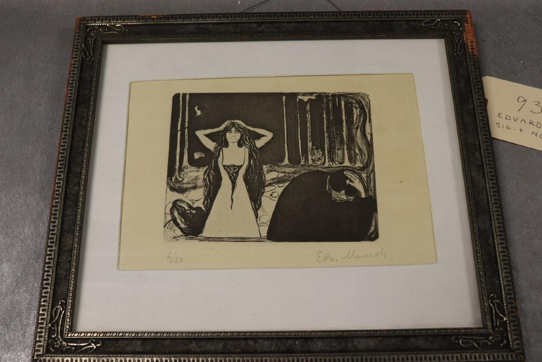 """Edvard Munch Signed & Numbered """"Ash II"""""""