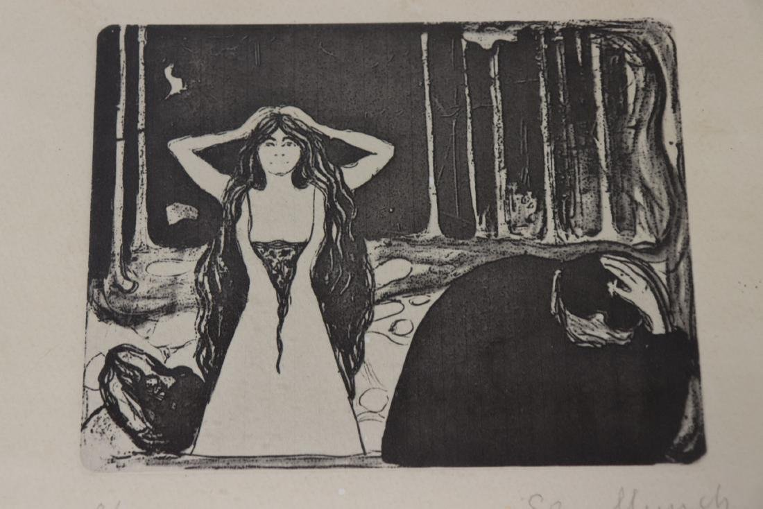 """Edvard Munch Signed & Numbered """"Ash II"""" - 2"""