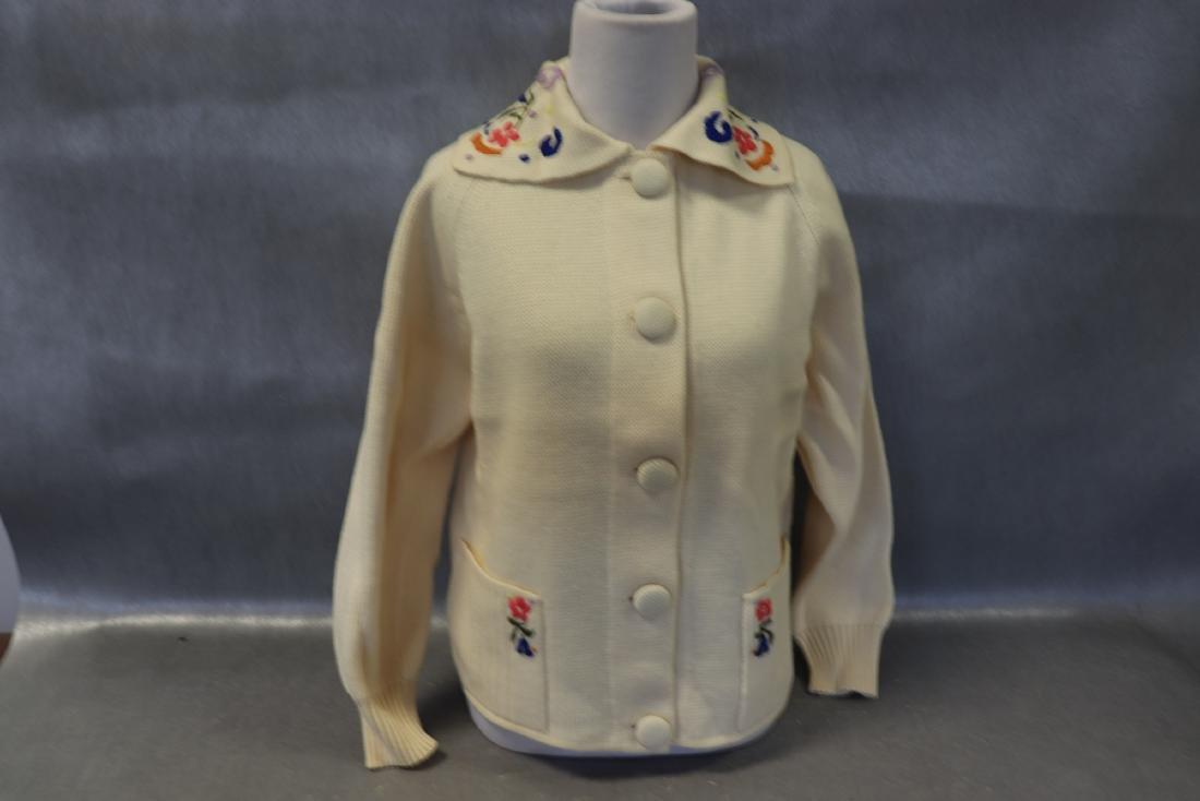 Vintage 1950's Wool Cardigan Ski Sweater