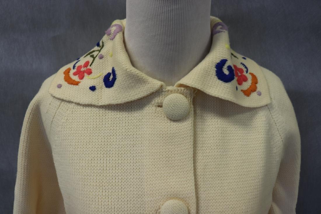 Vintage 1950's Wool Cardigan Ski Sweater - 2