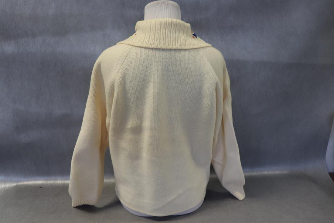 Vintage 1950's Wool Cardigan Ski Sweater - 5