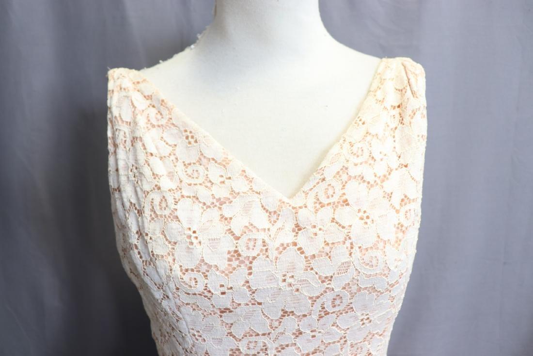 1950's Lace & Silk Chiffon Party Dress - 3