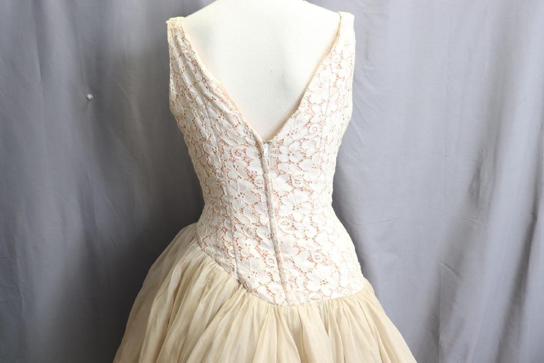 1950's Lace & Silk Chiffon Party Dress - 7