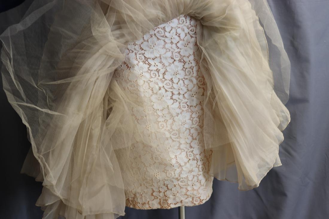 1950's Lace & Silk Chiffon Party Dress - 9