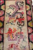 Antique Chinese Oriental Dragon Rug
