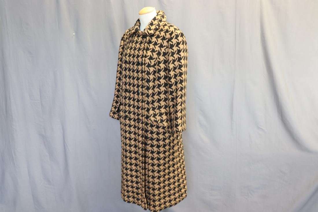 1960's Wool Knit Hounds Tooth Coat & Skirt Set - 3