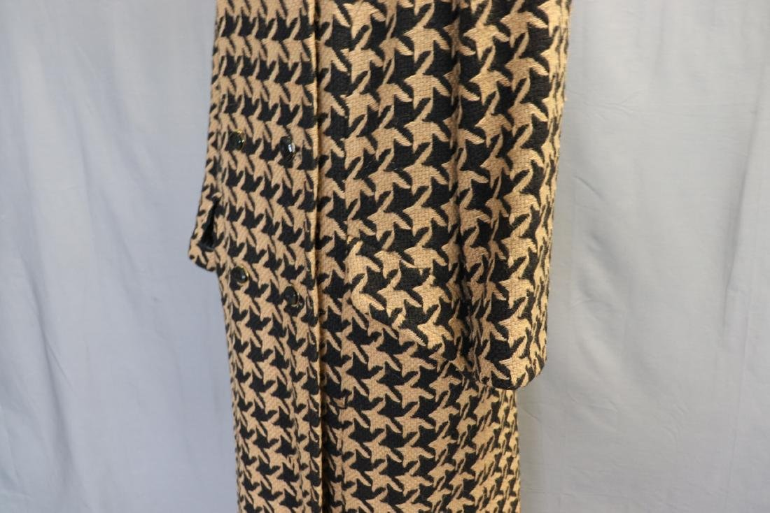 1960's Wool Knit Hounds Tooth Coat & Skirt Set - 4