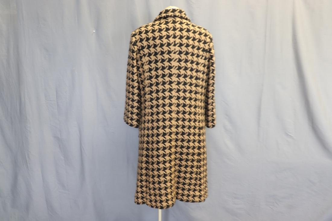 1960's Wool Knit Hounds Tooth Coat & Skirt Set - 5