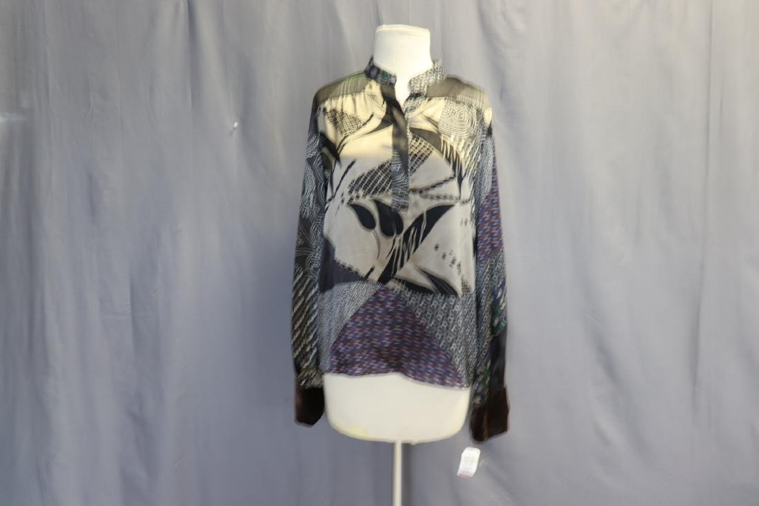 Old Store Stock Silk Blouse by Etro, Italy