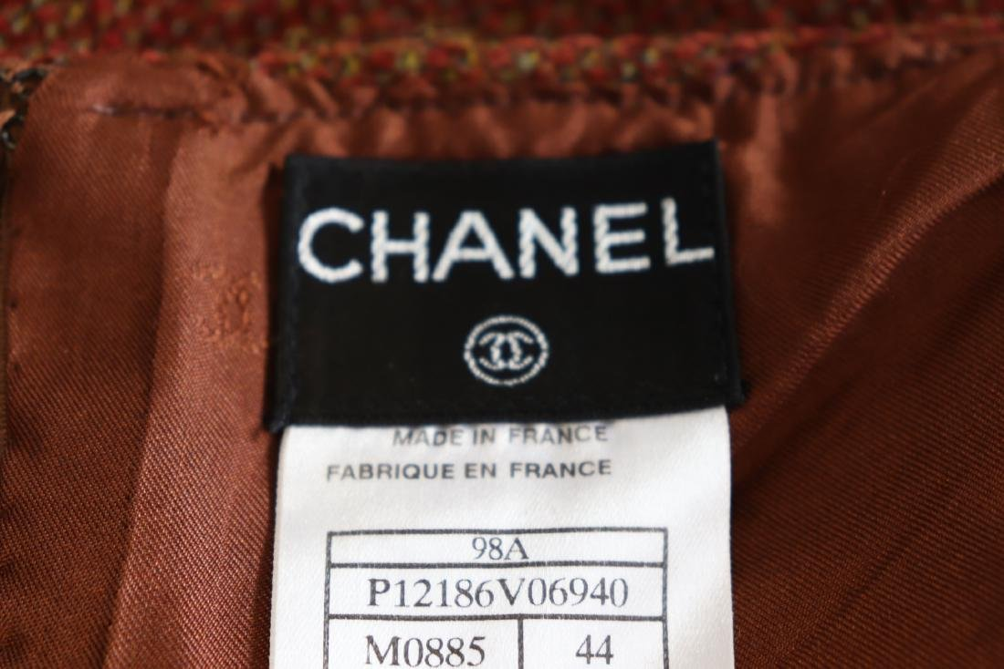 Brown Chanel Skirt & Jacket Suit - 8