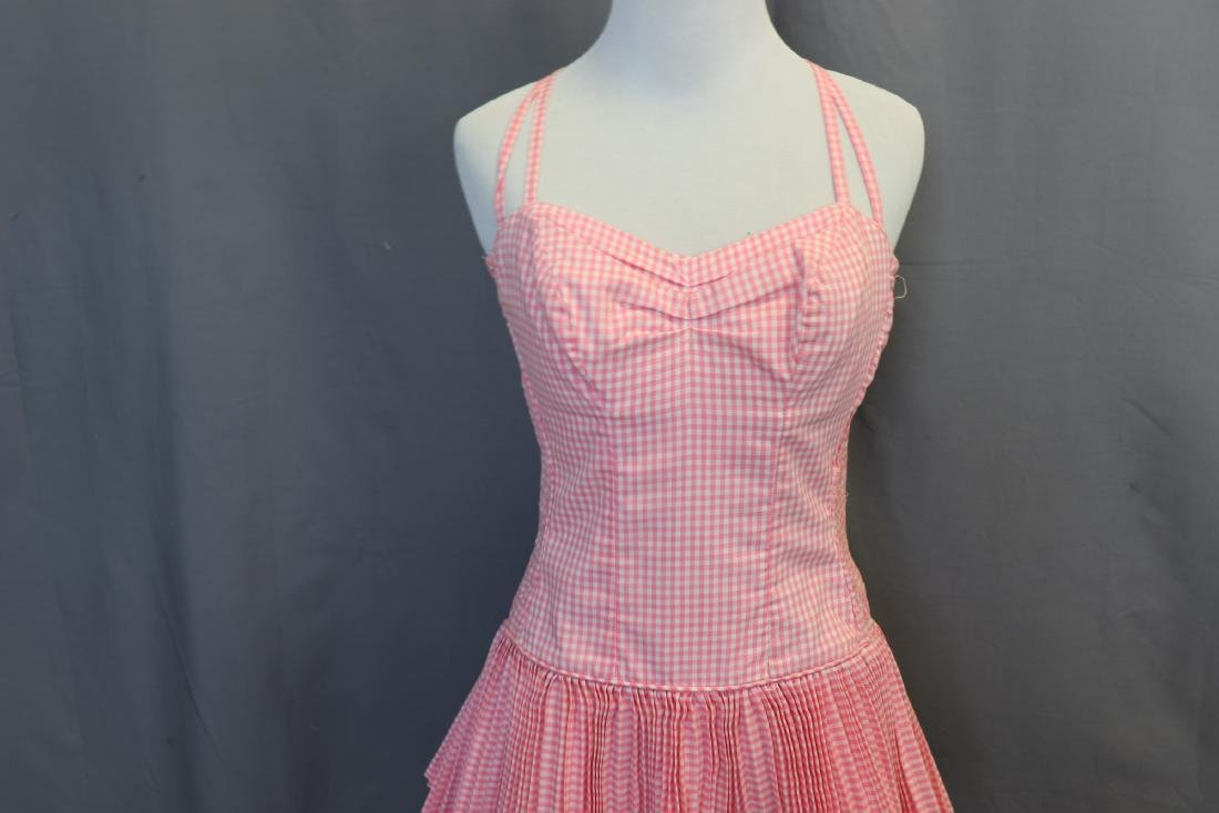 Vintage 1960's Pink Gingham Bathing Suit - 2