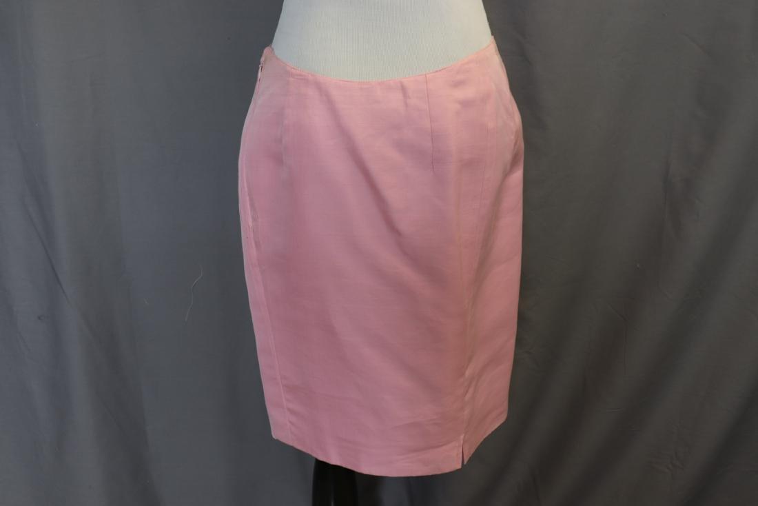 Vintage Oscar de la Renta Raw Silk Skirt & Jacket - 10