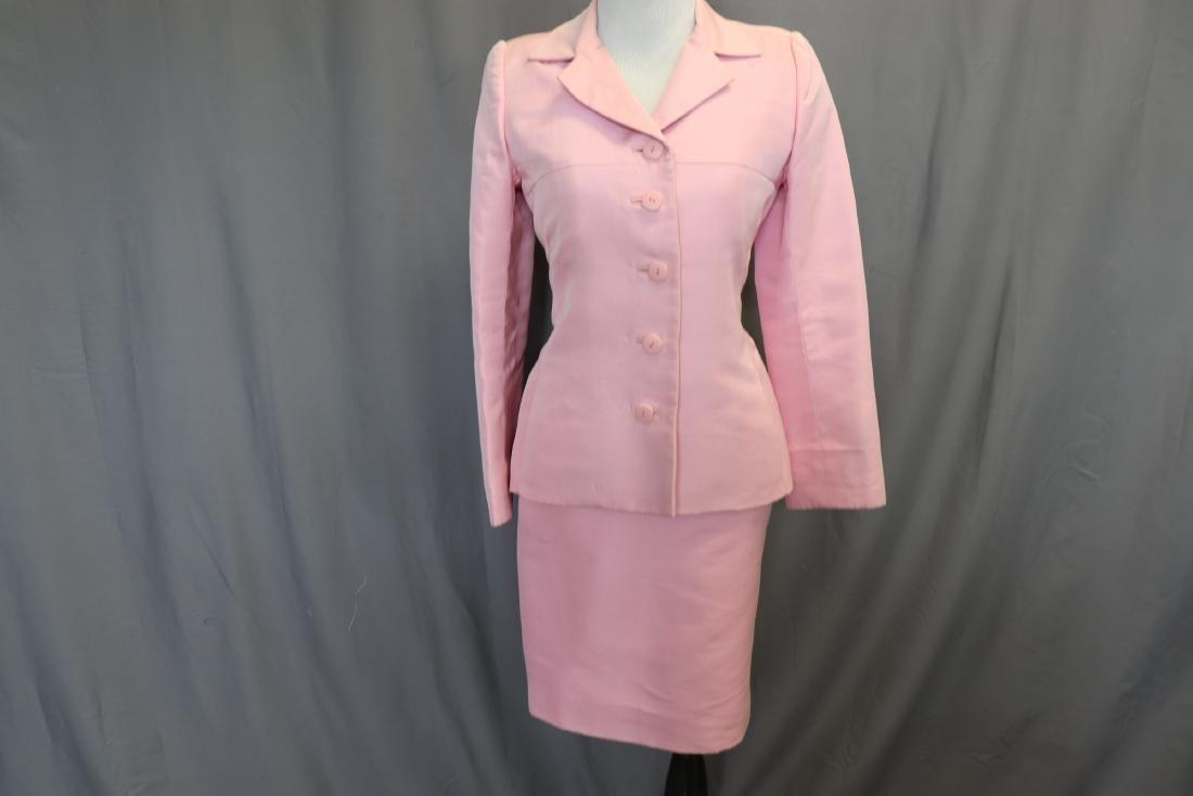 Vintage Oscar de la Renta Raw Silk Skirt & Jacket