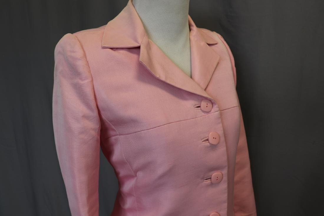 Vintage Oscar de la Renta Raw Silk Skirt & Jacket - 2