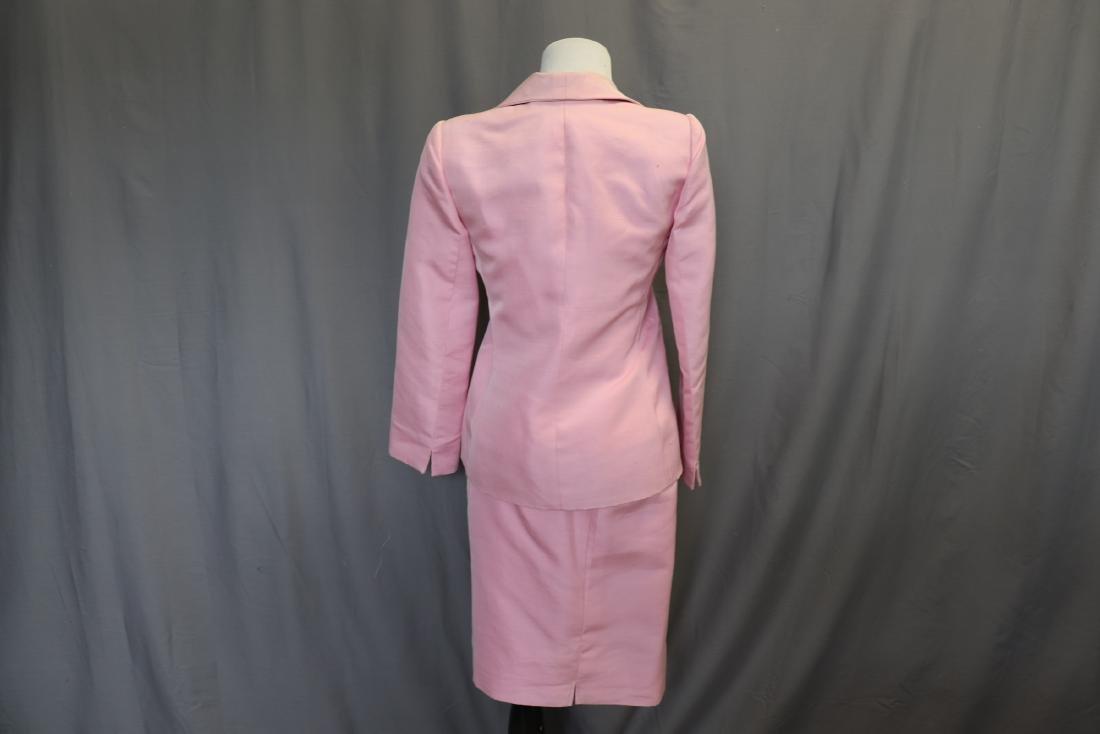 Vintage Oscar de la Renta Raw Silk Skirt & Jacket - 3