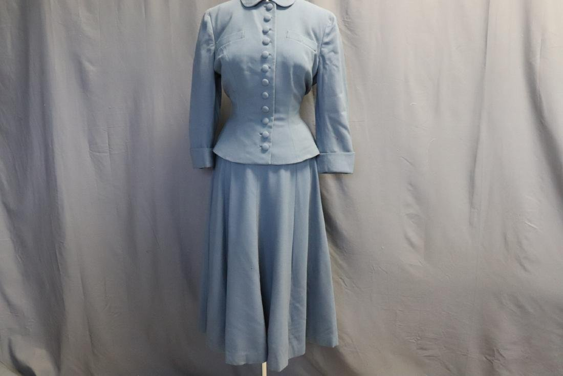 Vintage 1960's Blue Wool Suit by Forstmann