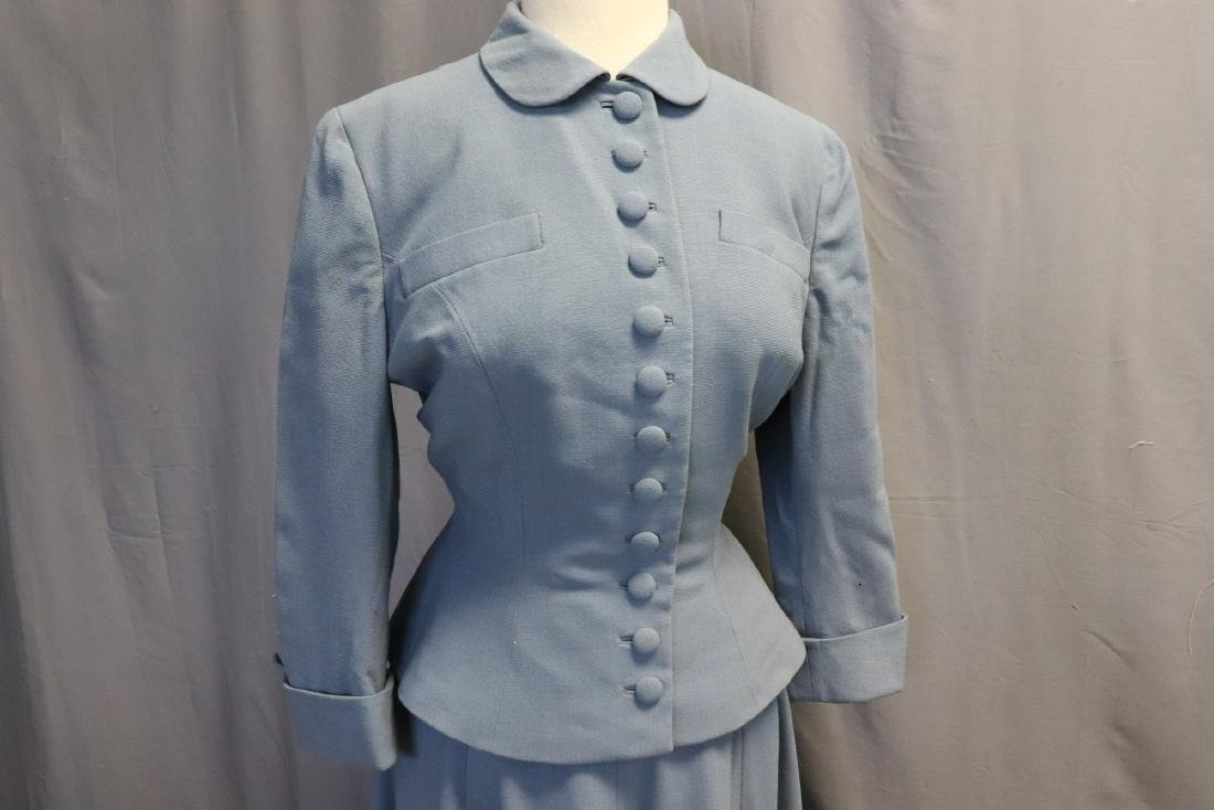 Vintage 1960's Blue Wool Suit by Forstmann - 2