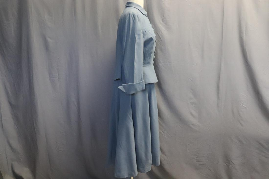 Vintage 1960's Blue Wool Suit by Forstmann - 3