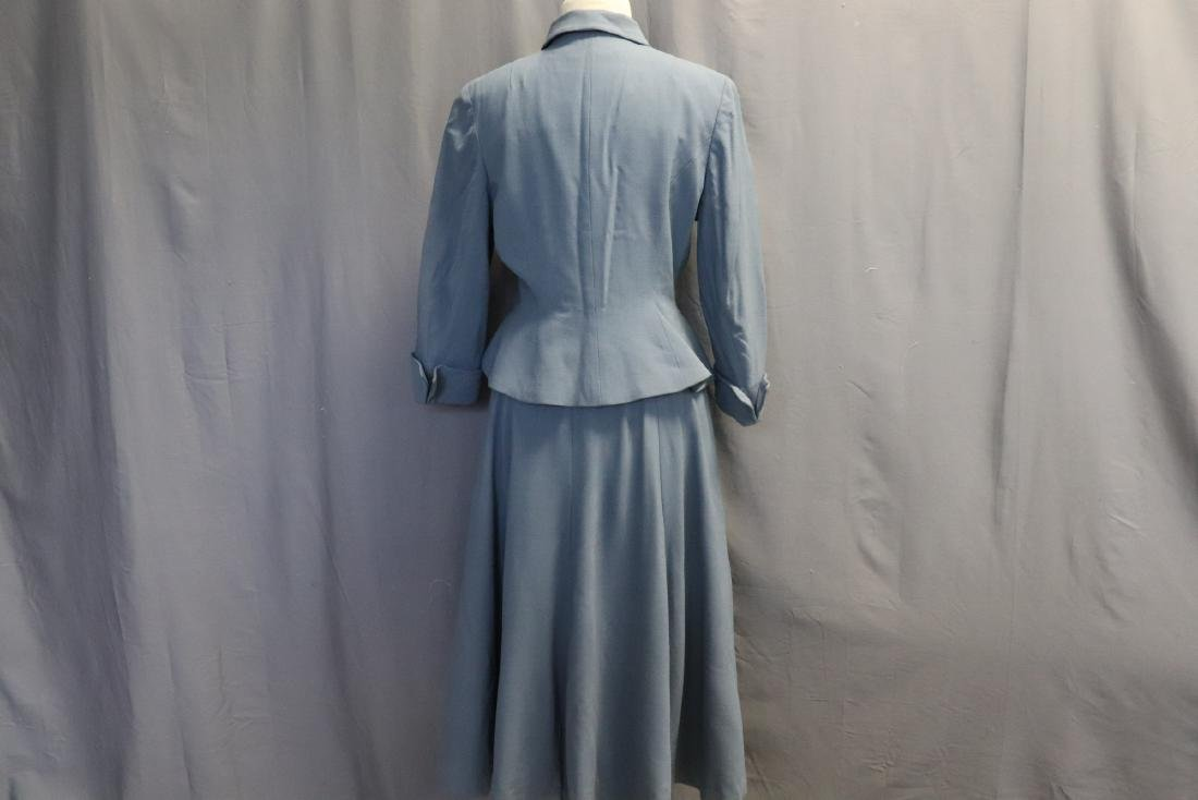 Vintage 1960's Blue Wool Suit by Forstmann - 4