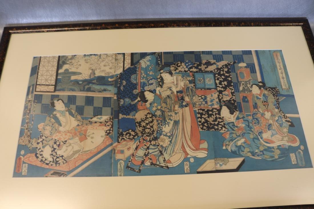 1795, Toyokuni Wood Block Japanese Art