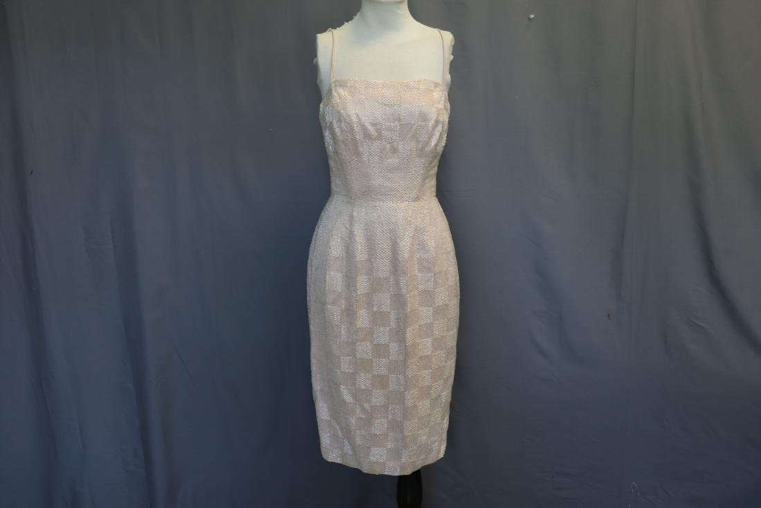 Vintage 1950's Densely Beaded Checkerboard Pattern