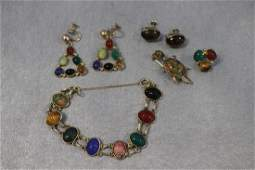 Vintage Scarab Jewelry Lot