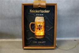 Vintage 1971 Bar Light With Knickerbocker Beer