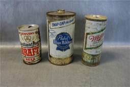 Lot of 3 Vintage Beer Cans