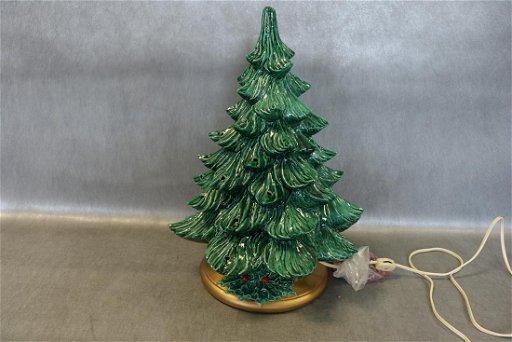 Vintage Ceramic Christmas Tree.Large Vintage Ceramic Christmas Tree