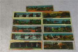 Antique Magic Lantern Color Glass Slides