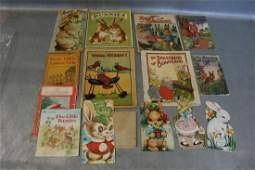 Lot Vintage Children's Bunny Cards, Books