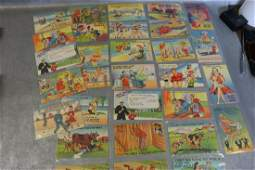 Lot of 30 Vintage Comic Post Cards
