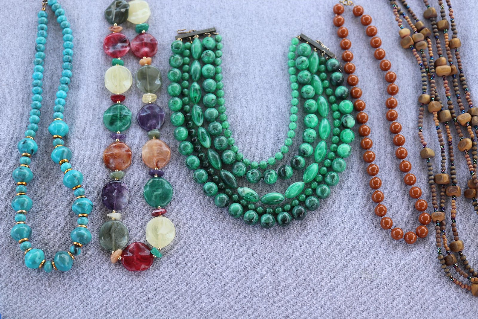 Lot of 5 Vintage Beaded Necklaces