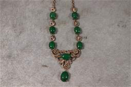 Jade & Filigree Necklace