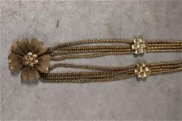 Vintage Floral Statement Necklace
