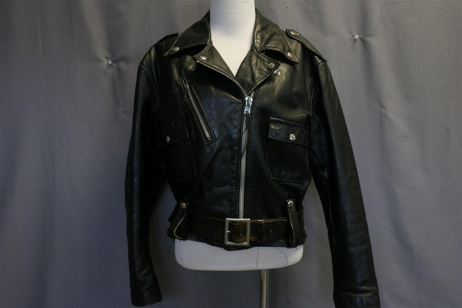 Vintage Harley Davidson Motorcycle Leather Jacket