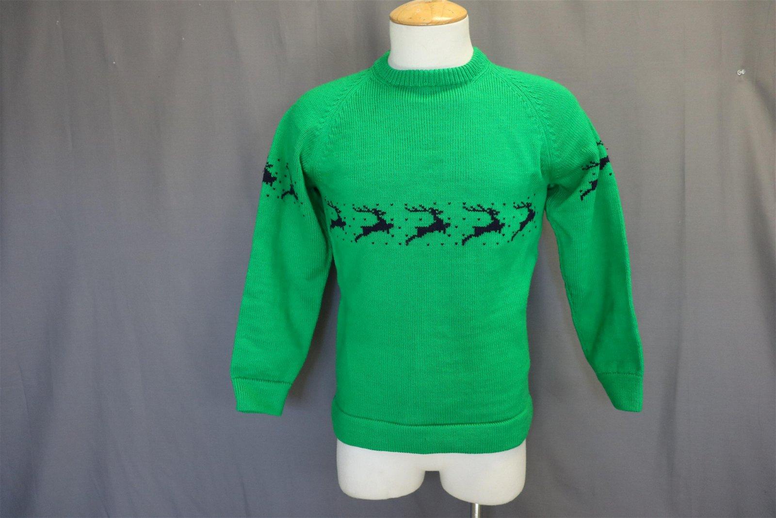 Vintage Vermont Originals Wool Reindeer Sweater