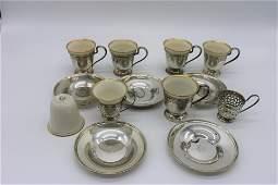 Sterling Silver  Lenox Demitasse Set
