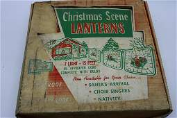 Vintage Christmas Nativity Scene 7 Designs Lanterns